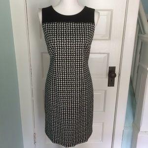 Talbots Black & White Sheath Dress, 6P